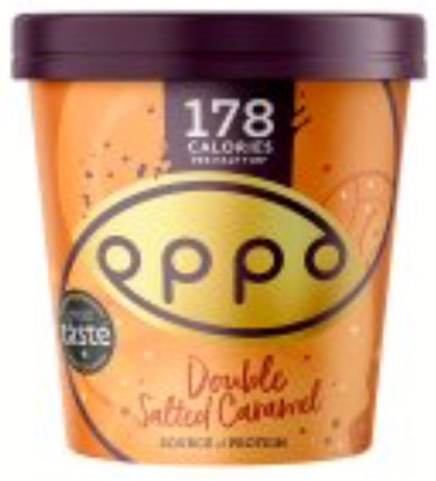 Oppo Low Calorie Salted Caramel & Colombian Chocolate with Hazelnut Ice Cream