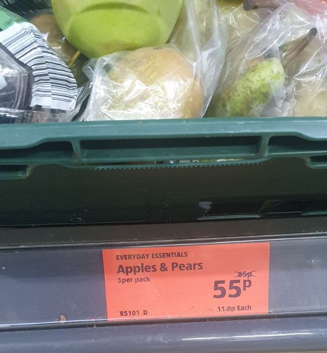 5x Apples or Pairs 55p