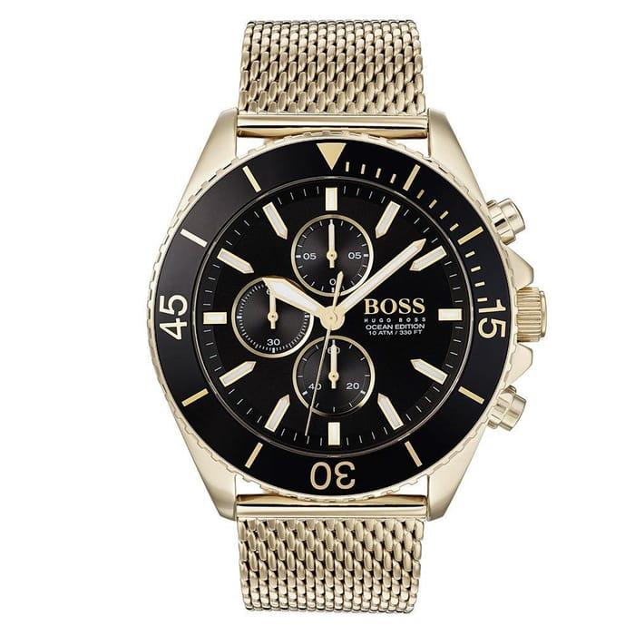 BOSS Ocean Edit Gold Plated Men's Watch Was: