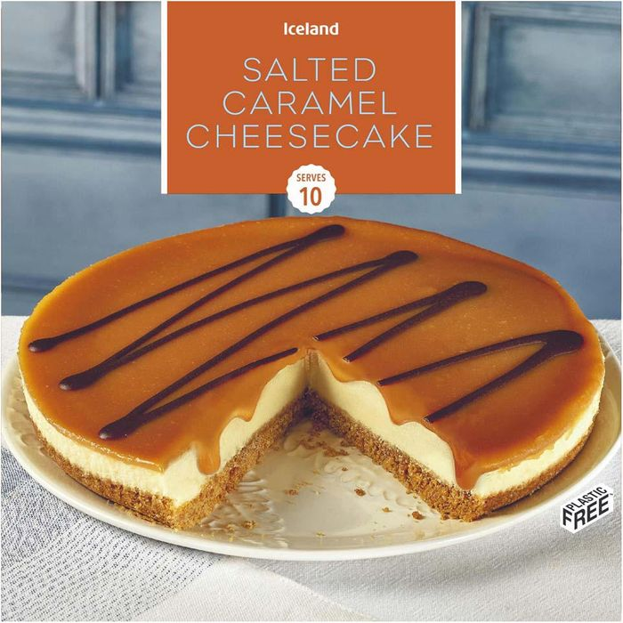 Iceland Salted Caramel Cheesecake 850g - HALF PRICE!