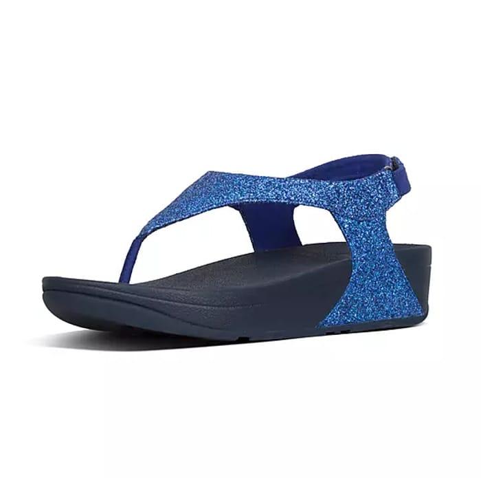 Cheap Fitflop Womens Skylar Pu-Glitter Back Strap Sandals, Only £24!