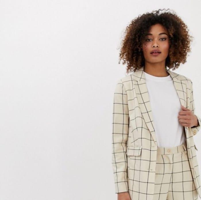 Ichi Check Suit Blazer