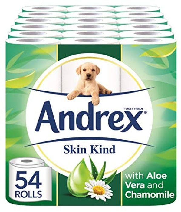 SAVE £7.50 - Andrex Skin Kind Toilet Roll (54 Rolls) + Free Delivery