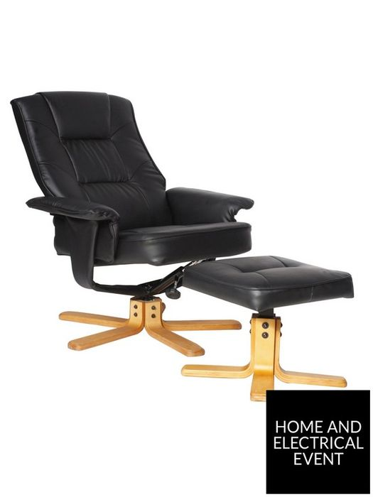*SAVE £20* Alphason Drake Recliner Office Chair with Matching Footstool