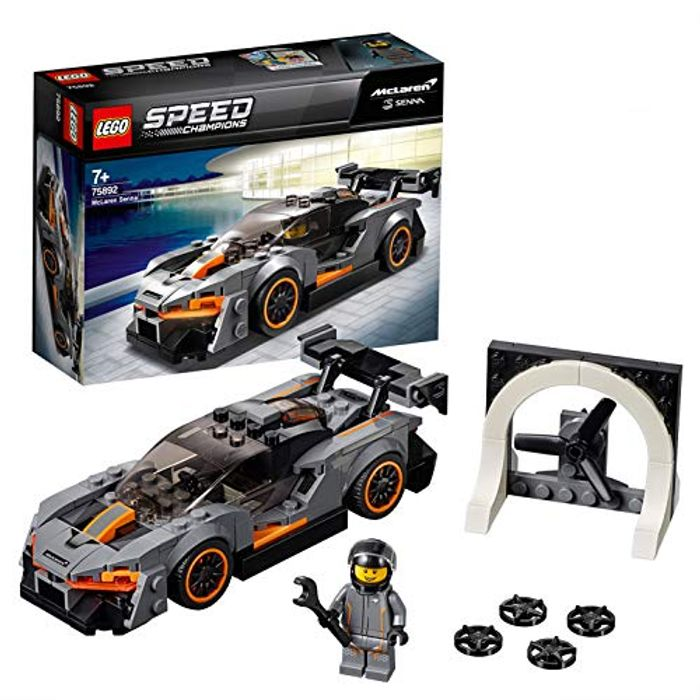 LEGO 75892 Speed Champions Senna McLaren Driver Minifigure Race Car Building Set