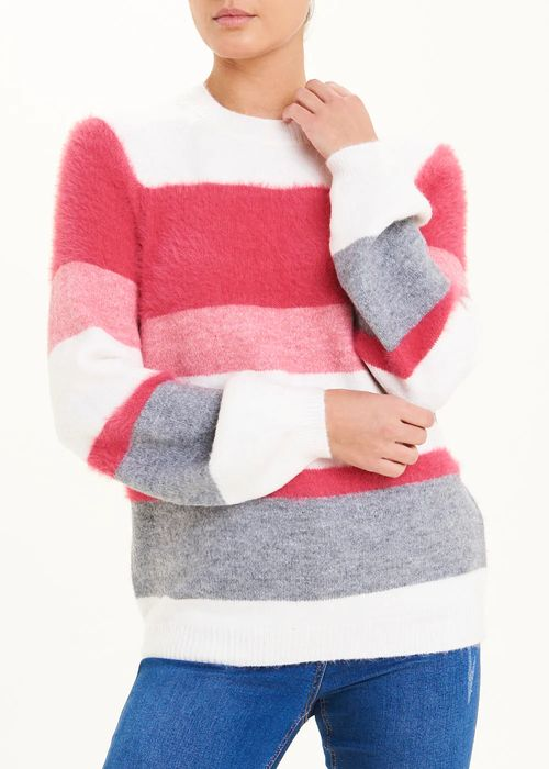 Textured Stripe Jumper Sm and L Only