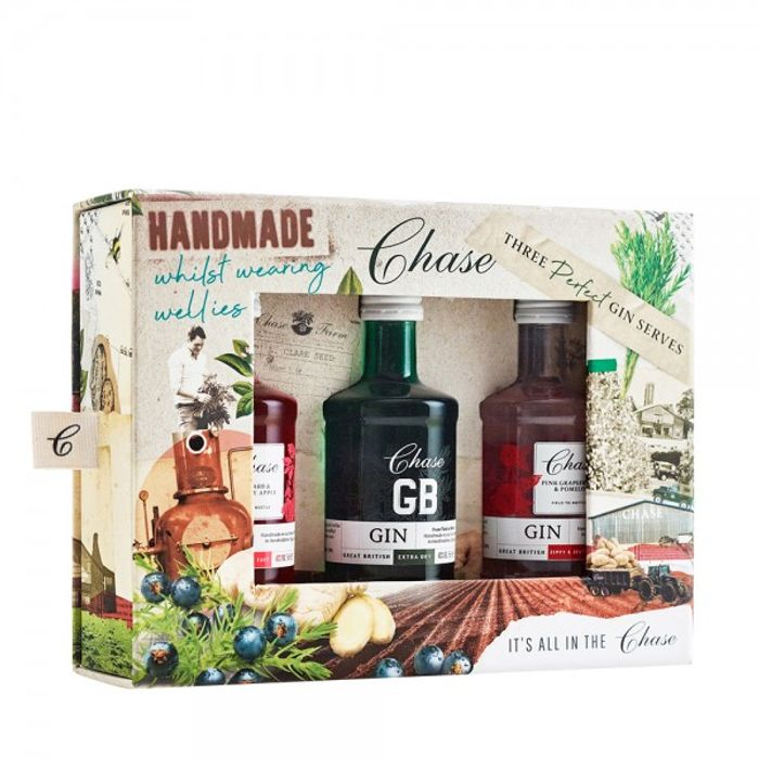 """Chase Distillery """"Three Perfect Gin Serves"""" Gin Set 3X5Cl"""