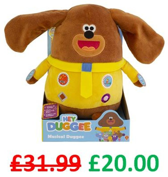 HEY DUGGEE Musical Soft Toy with Fun Moving Ears, Lights, Sounds & Songs