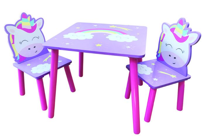 Magical Unicorn Wooden Table and Chairs Set - 60% OFF!