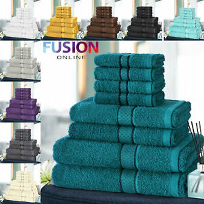Cheap 8 Piece Egyptian Cotton Towel Bale Set Only £12.79 Delivered