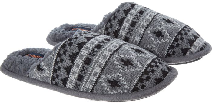 R.F. SCOTT Grey Knitted Slippers