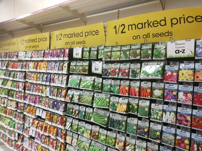 All Seeds at Wilko, Only £0.5!