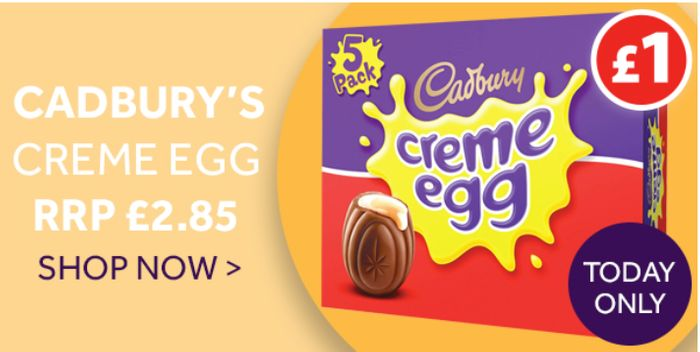 Cadbury's Creme Eggs *OMG A 5 PACK FOR £1 BUT TODAY ONLY!