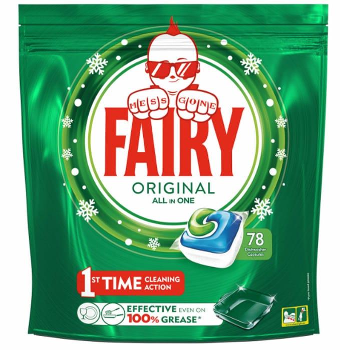 Fairy Original All in One Dishwasher Capsule, 78 Capsule
