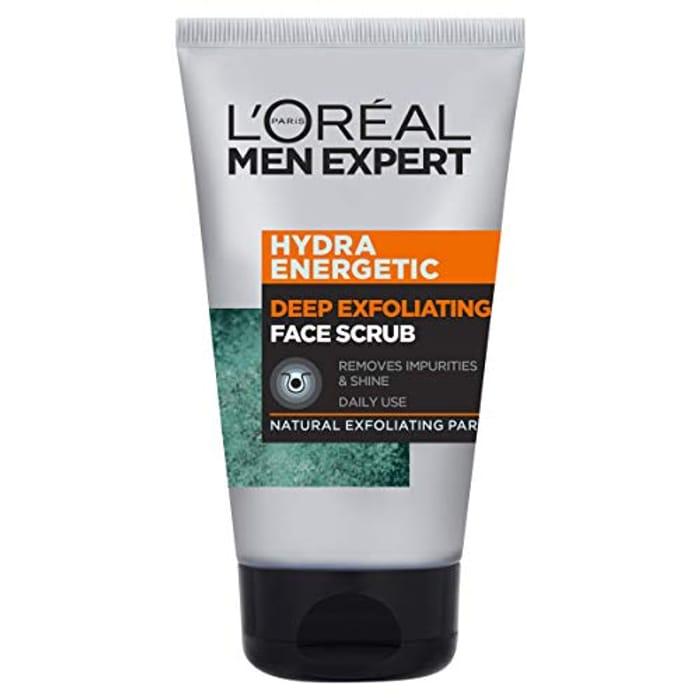 L'Oreal Men Expert Hydra Energetic Deep Exfoliating Face Scrub 100ml - Save £2!