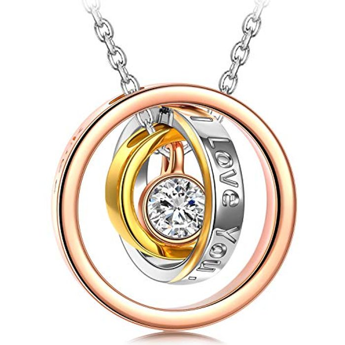 Cheap Necklace for Women Stylish 3 Ring, Only £21.99!