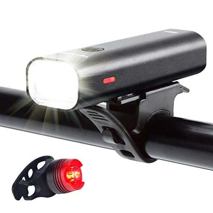 USB Rechargeable Bike Light Set