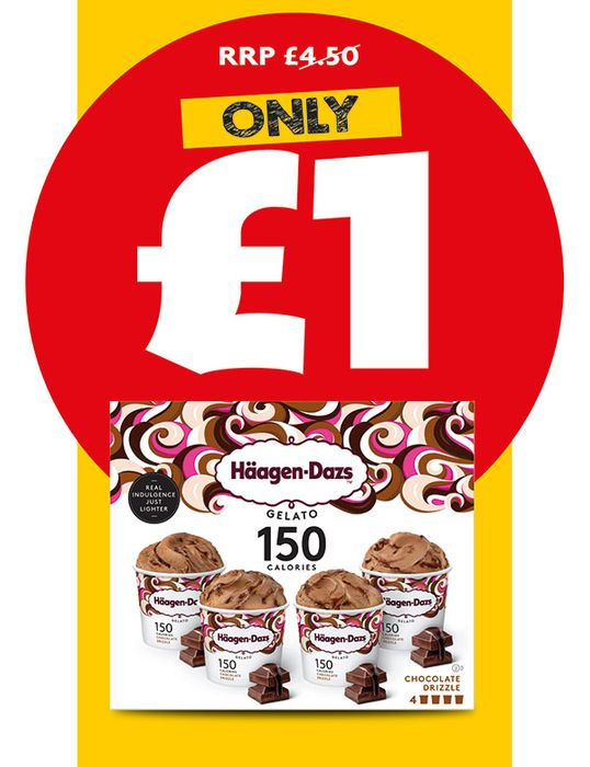 Haagen-Dazs Chocolate Drizzle Gelato 4x95ml