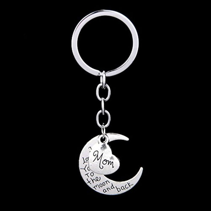 I Love You to the Moon and Back Key Ring Keyring