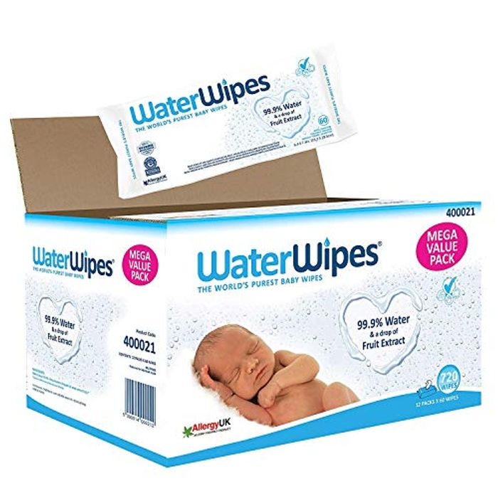 WaterWipes Baby Wipes Sensitive Newborn Skin, 720 Wipes