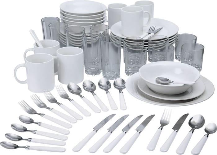 60 Piece Dinner Starter Set in White - £22.50 Delivered