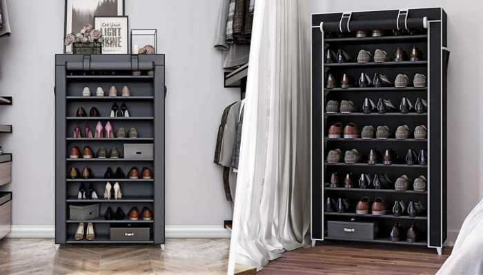 10 Tier Adjustable Shoe Organiser - 2 Colours