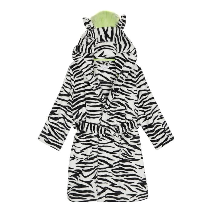 Bluezoo - Girls' White Zebra Print Dressing Gown Now £4.50 - £5.40
