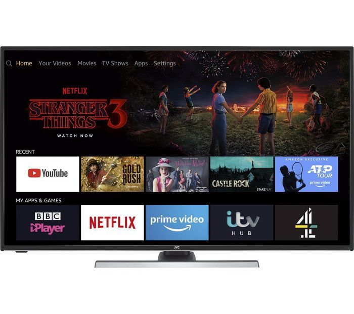 """JVC Fire TV Edition 40"""" Smart 4K Ultra HD HDR LED TV w/Alexa £279.99 with Code"""