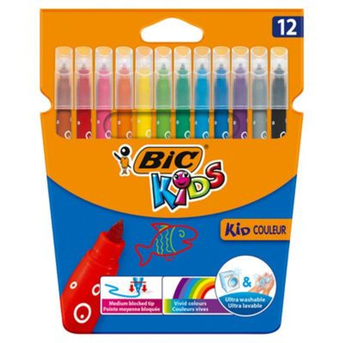 Cheap Bic Kids Kid Couleur Felt Tip Pens with 50% Discount - Great buy!