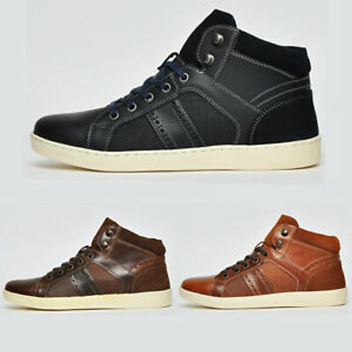Special Offer - Red Tape REAL LEATHER Designer Chukka Ankle Boots Trainers