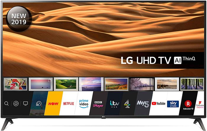 SAVE £400 - LG 70 Inch UHD 4K HDR Smart LED TV with Freeview Play (2019 Model)