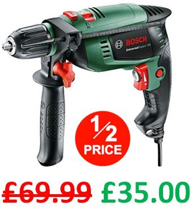 HALF PRICE NOW at AMAZON! Bosch Universal Impact 700 Hammer Drill