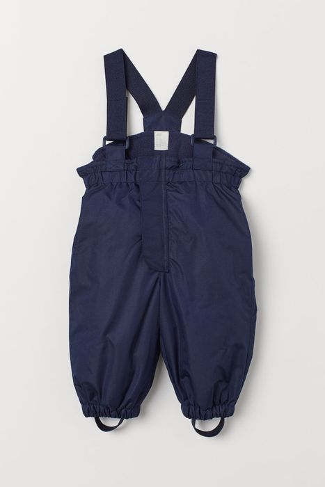 Baby and Toddler Outdoor Trousers with Braces - Dark Blue