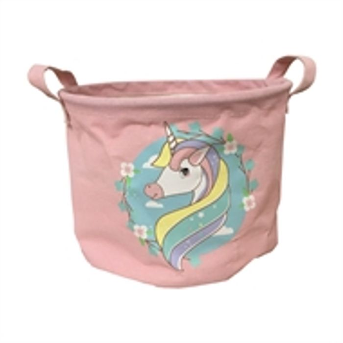 Cheap Large Fabric Toy Storage Basket - Unicorns at Homebase, Only £2.4!