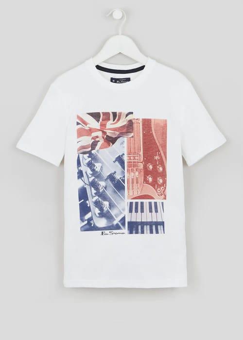 Best Price! Boys Ben Sherman Guitar Print T-Shirt (3-13yrs)
