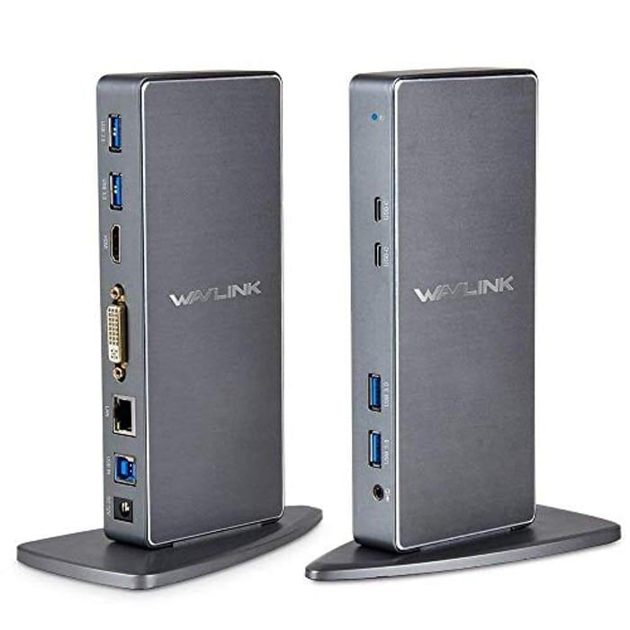 USB 3.0 Hard Drive Docking Station, WAVLINK 2 Bay HDD Docking Station