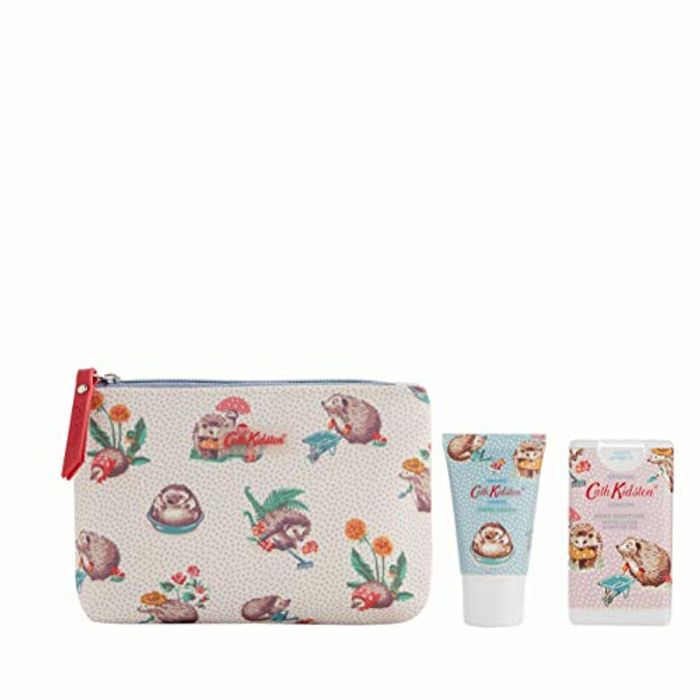 Cath Kidston Beauty Hedgehogs Cosmetic Pouch with Hand Cream and Hand Sanitisers