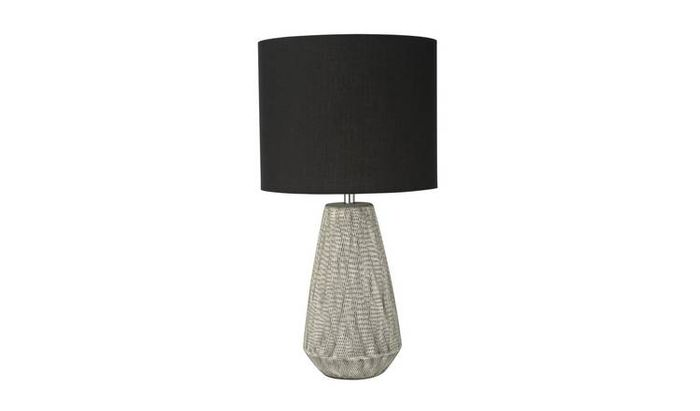 Argos Home Kanso Ceramic Table Lamp - Grey Half Price