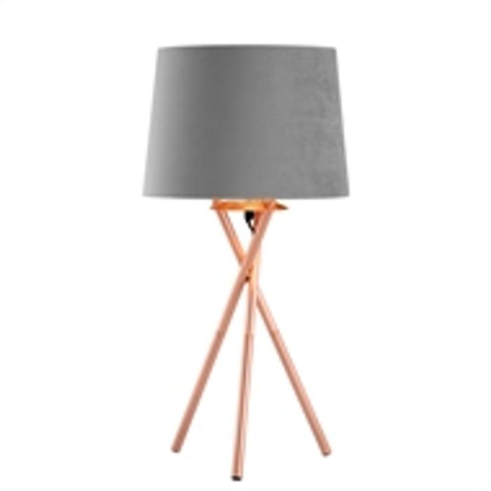 Bryn Tripod Table Lamp (Grey) - Save £5!