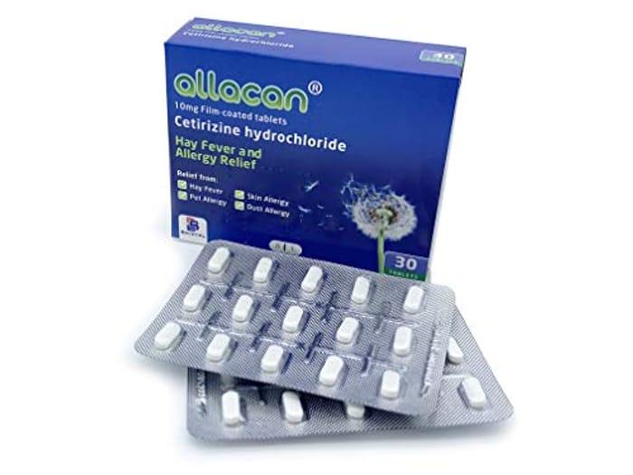 3 Months Supply Allacan Cetirizine Hayfever Allergy Tablets 30 X 3
