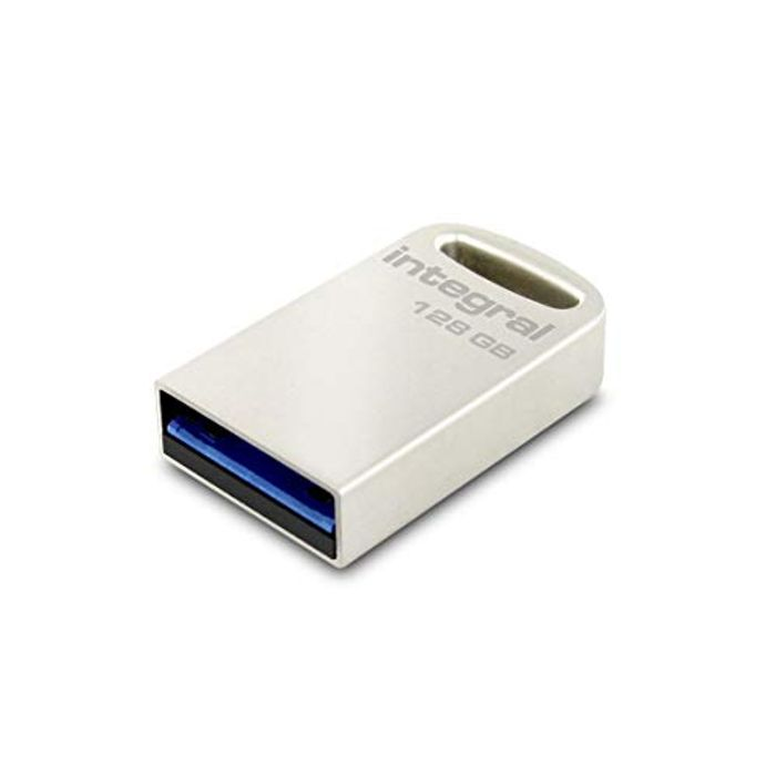 Integral 128GB USB Memory 3.0 Flash Drive Fusion Metal Casing