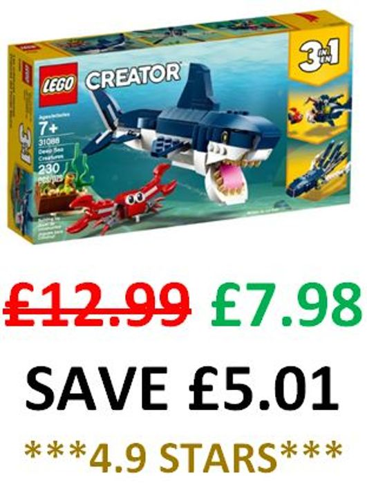 CHEAPEST EVER PRICE! LEGO Creator 3-in-1 Deep Sea Creatures