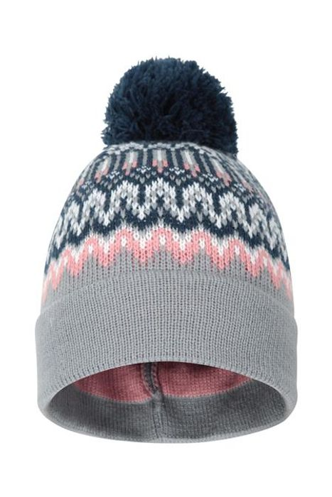 Cheap Winter Pattern Womens Beanie - Grey at Mountain Warehouse Only £2.99