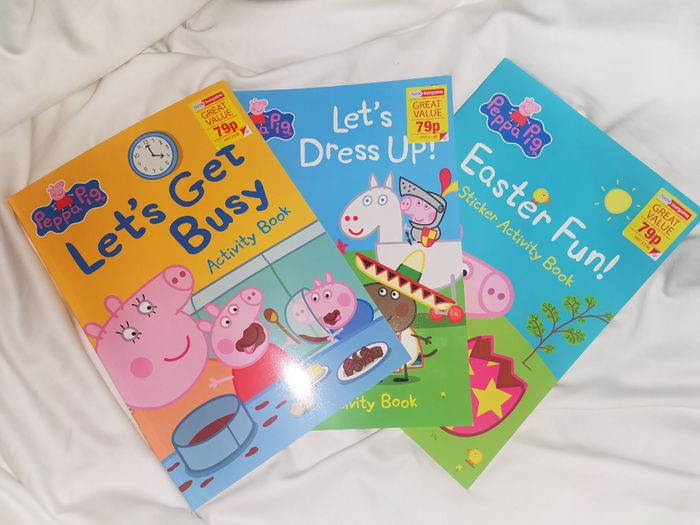 Peppa Pig Sticker Activity Books Only 79p at Home Bargains!