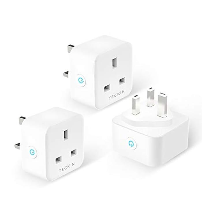 Smart Plug WiFi Socket Compatible with Alexa Echo Google Home 3 Pack
