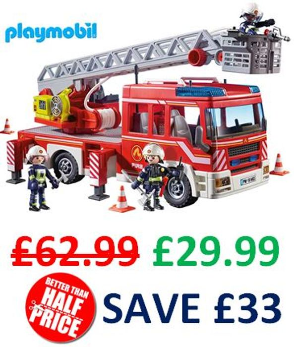 SAVE £33! Playmobil City Action - Fire Ladder Unit with Light and Sound (9463)