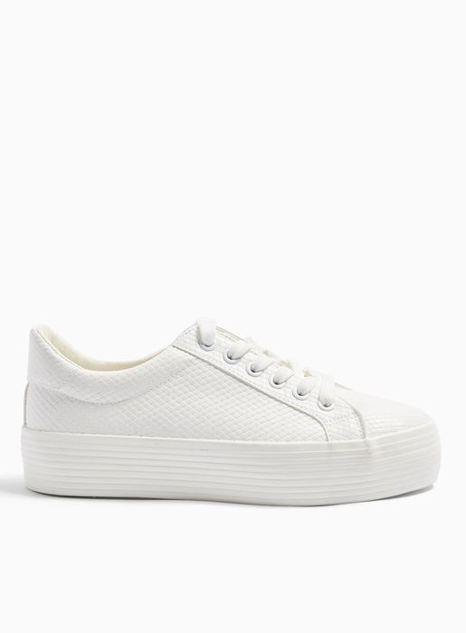 TRICKSTER White Snake Design Double Sole Trainers
