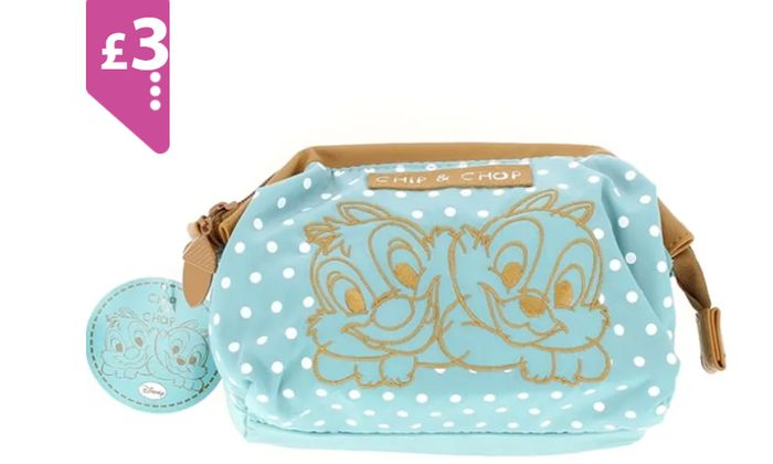 Disney Chip Chop Cosmetic Bag **ONLY £3