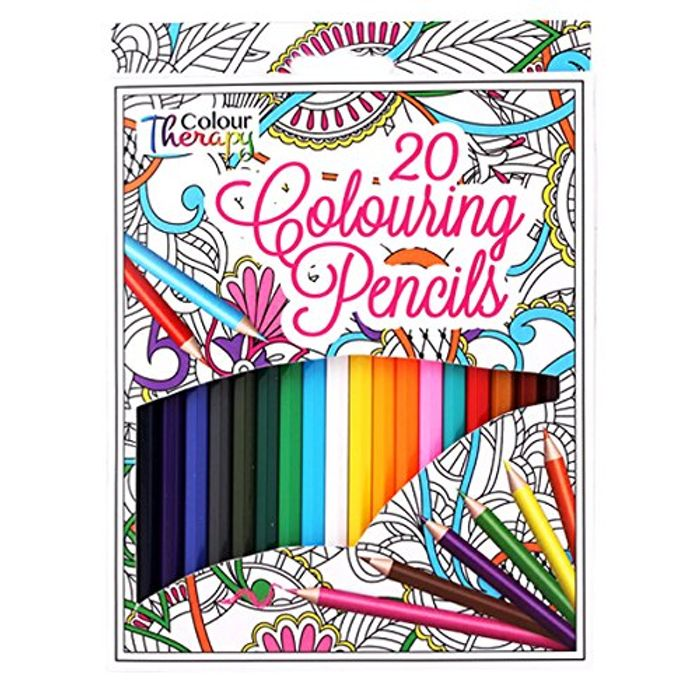 Cheap Pack of 20 Colour Therapy Colouring Pencils, Only £1.7!
