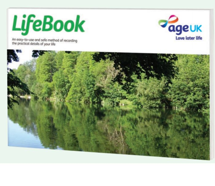 Get A LifeBook To Record Important Details From AGE UK FREE BY POST